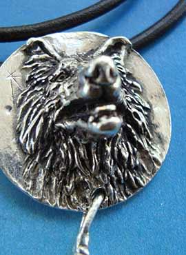 colgante lobo totem amuleto plata