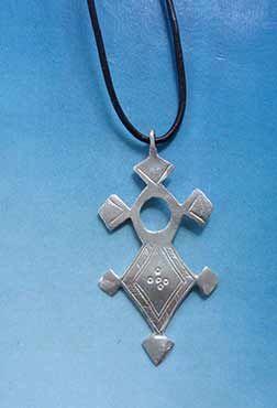 joya cruz tuareg agadez ifewan colgante de plata