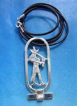 colgante dios egipcio thot en shenu cartucho plata