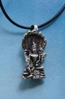 joya de Vishnu Visnú dios hindu colgante plata