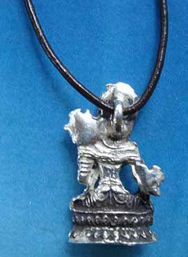 Tara blanca diosa hindu lateral colgante plata
