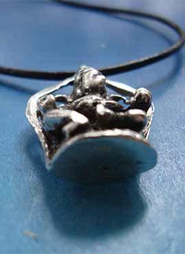 colgante Ganesha amuleto de plata