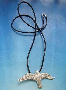 colgante halcon de plata amuleto aves