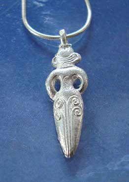 colgante Inanna diosa de plata
