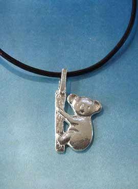 colgante koala de plata amuleto joyas