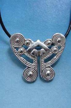 colgante mariposa tairona amuleto nariguera