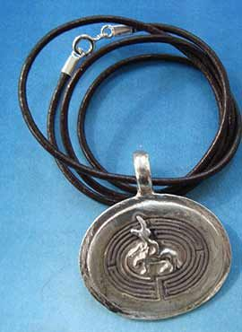 colgante minotauro laberinto plata