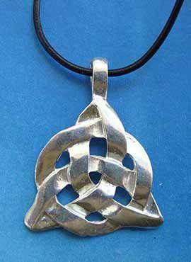 colgante nudo celta de taliesin en plata de ley