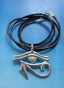 colgante ojo de Horus udjat amuleto egipcio plata