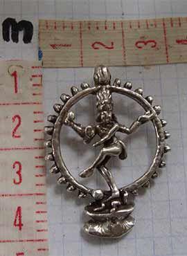Shiva Nataraja danzante dios hindú colgante dimensiones