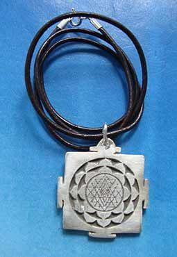 collar sri yantra joya colgante de plata