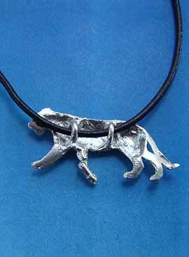 colgante tigre de plata amuleto