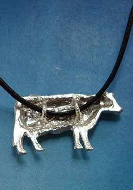 vaca de plata joya por detras