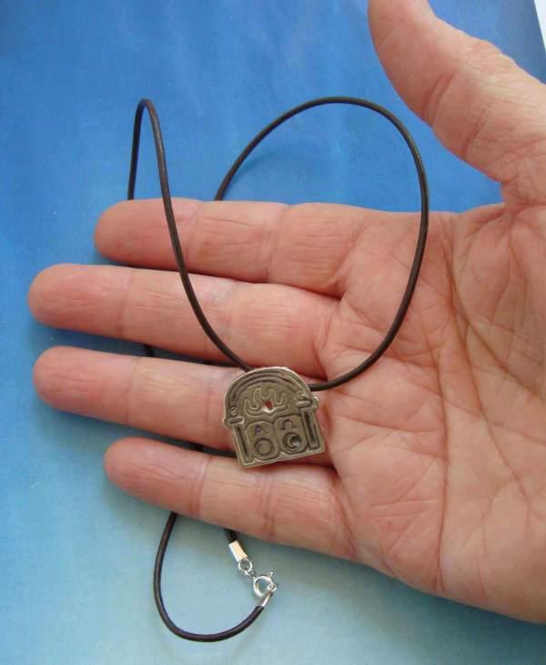 collar colgante alpha omega, plata
