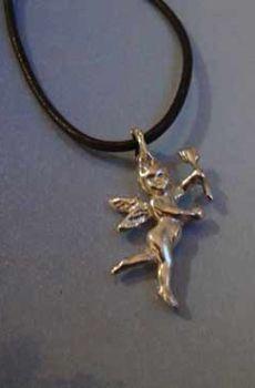colgante angelito serafín de luz amuleto de plata