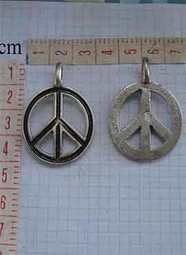 colgante hippie paz y amor símbolo
