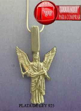 ángel Jeliel de plata colgante amuleto del ángel