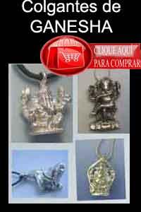 Ganesha colgantes y amuletos de plata