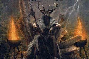 magia celta wicca. Cernunnos, un dios celta de los bosques sagrados