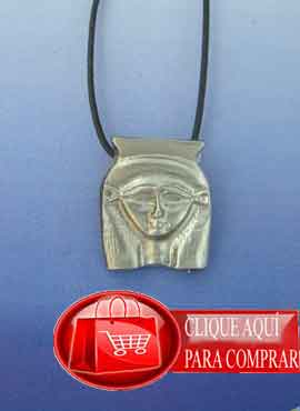 Hathor  Dendera, diosa Egipto, colgante de plata