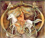 Rhiannon y Pwyll leyenda celta