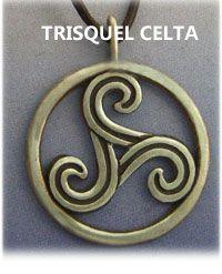 ritual celta de salud con un trisquel