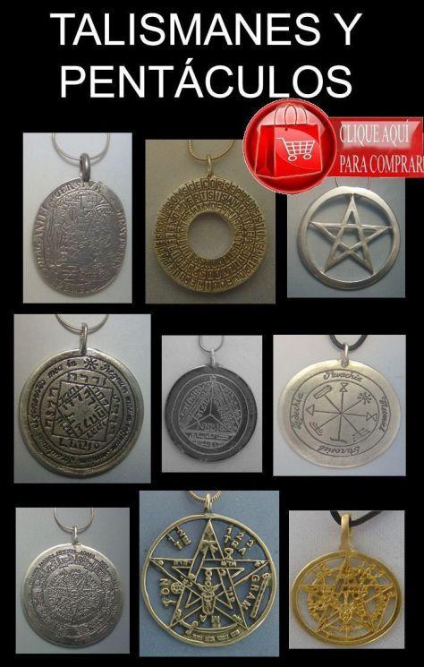 talismanes en plata y oro