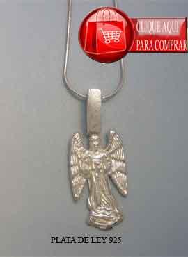 Arcángel Gabriel de plata, colgante