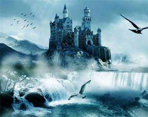 Rhiannon y Pwyll en el castillo