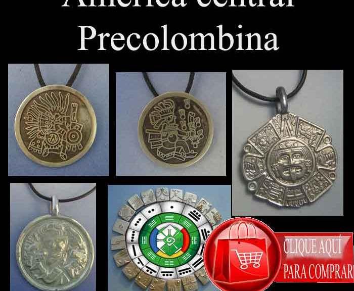 America precolombina central, símbolos y colgantes