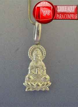 colgante Buda amitabha de plata de ley