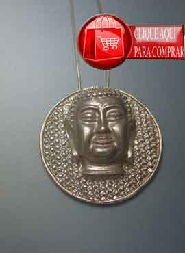 Buda de plata gran medallón