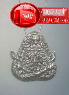 Macha diosa celta colgante de plata