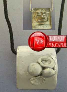 eleguá de plata amuelto orixa colgante