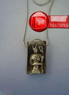 exú de plata colgante orixa de Brasil candomblé