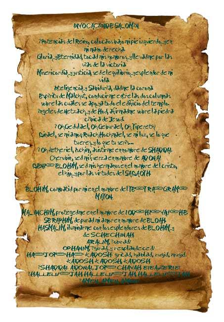 Consagración de los talismanes