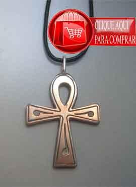 Anj llave de la vida cruz ansada de plata
