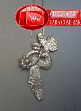 colgante hada de plata