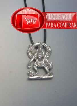 Kali colgante de plata amuleto hinduismo