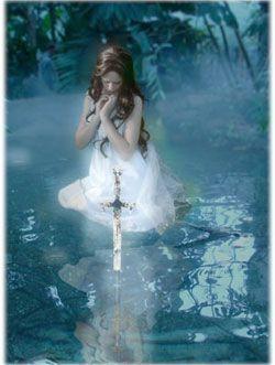 el rey arturo leyenda con la dama del lago
