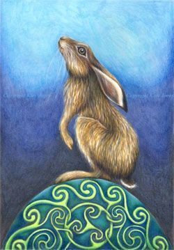 Ostara fiesta celta representada por la liebre