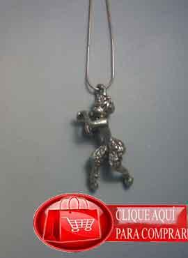 fauno de plata amuleto de plata