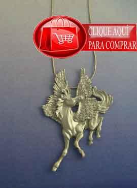 Pegaso pegasus. caballo alado. colgante plata de ley
