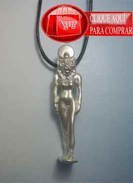 Sejmet figurilla colgante de plata de ley de la diosa leona de Egipto