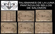 talismanes de la luna, pantáculos sellos de Salomón