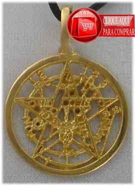 tetragramatón de oro colgante amuleto oro 18 k
