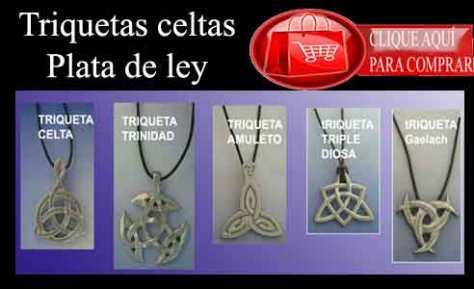 colgantes celtas triquetas de plata