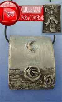 Yemanjá de plata amuleto orixa candomblé