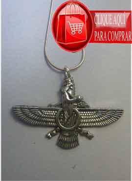faravahar zoroastro phalavi de plata