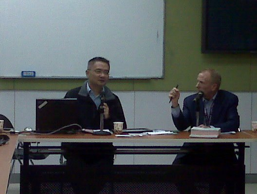 Cliff Choi and Tim discuss fundraising in HKSAR